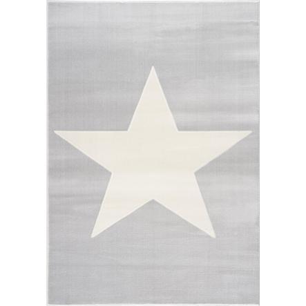 LIVONE play a dětský koberec Happy Rugs Shootingstar, šedo / bílá 160 x 230 cm