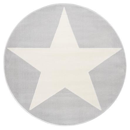 LIVONE Spiel- und Kinderteppich Happy Rugs Shootingstar Rund, grau/weiss 133 cm