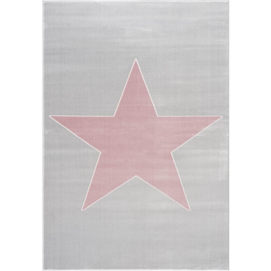 LIVONE Spiel- und Kinderteppich Happy Rugs Shootingstar, silbergrau/rosa 160 x 230 cm