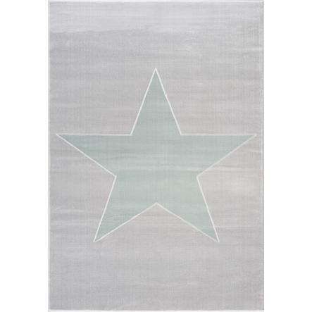 LIVONE leikki- ja lasten matto Happy Rugs -tähti tähtiharmaa / minttu, 120 x 180 cm