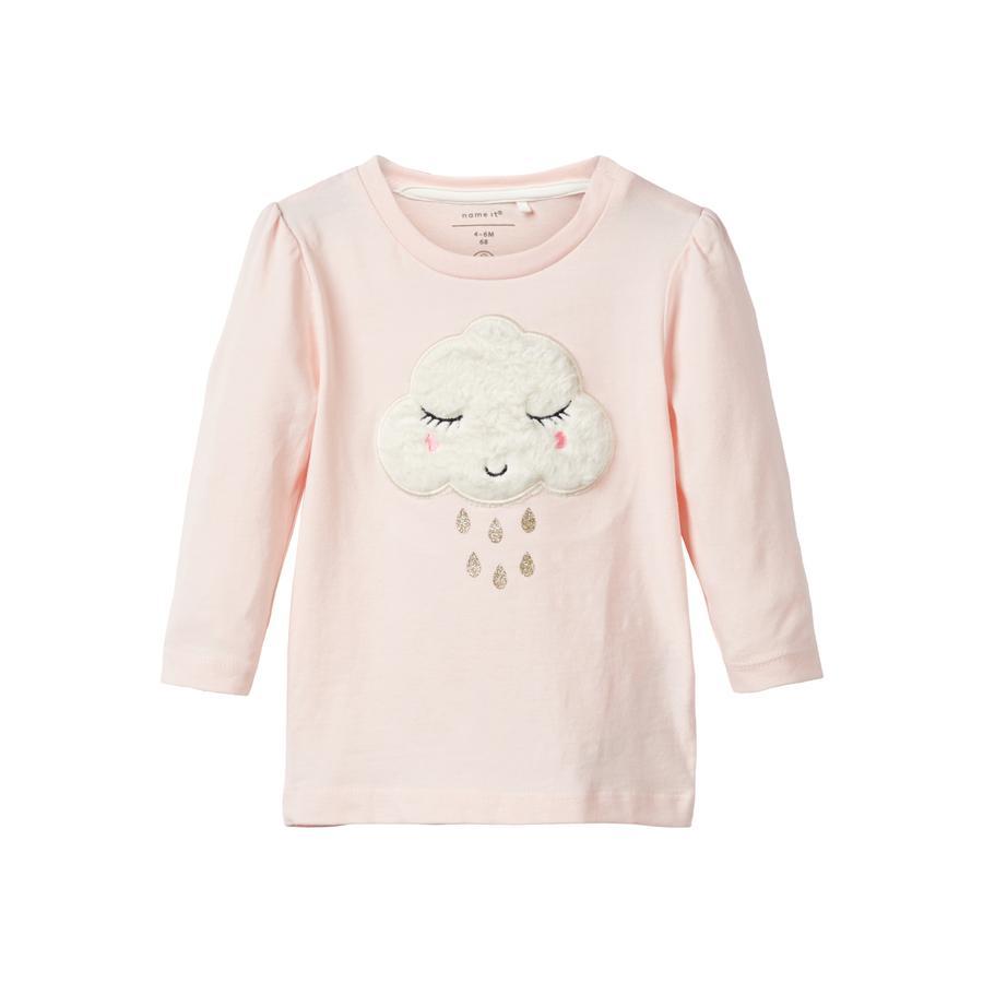 name it Flickor Långärmad tröja Nb fox ana knappt rosa