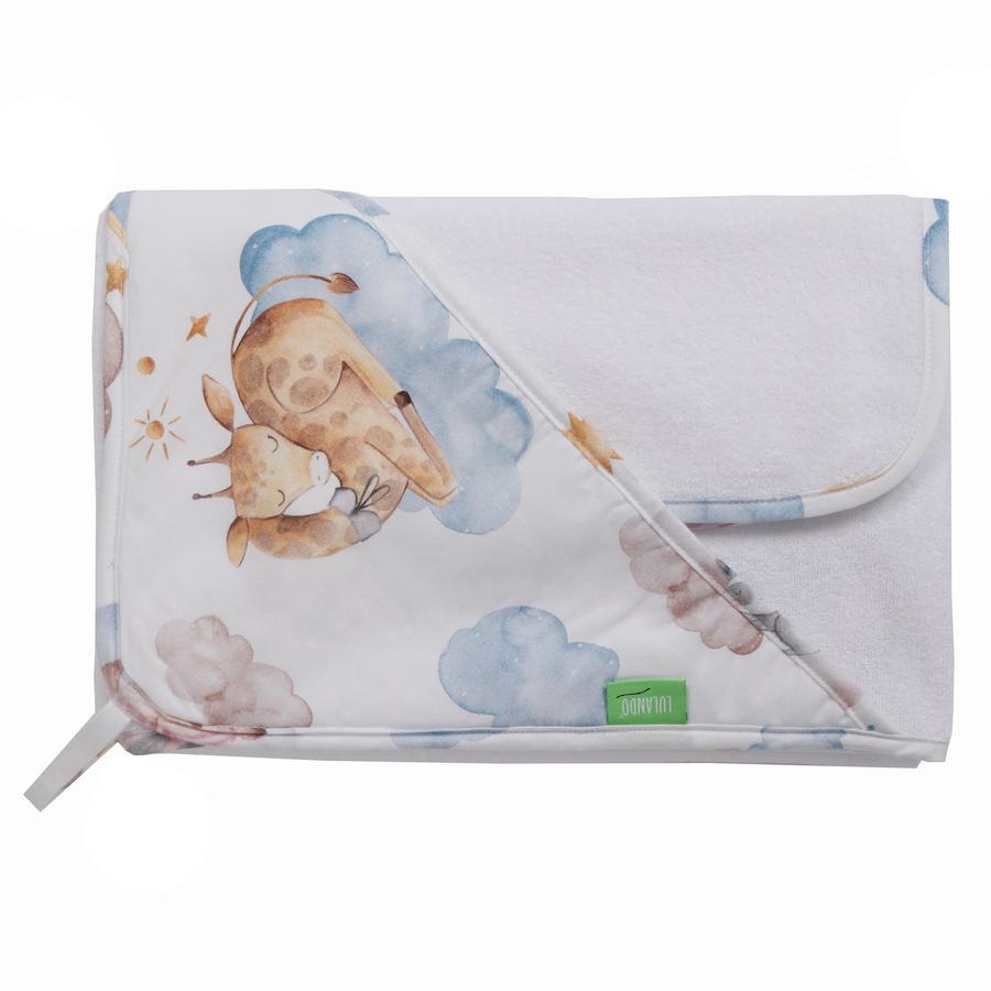 LULANDO Art Collection Sada ručníků a mycích rukavic s kapucí Sleepy 80x100 cm