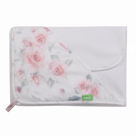 LULANDO Art Collection Håndklæde og vaskehandskesæt med roser 80x100 cm