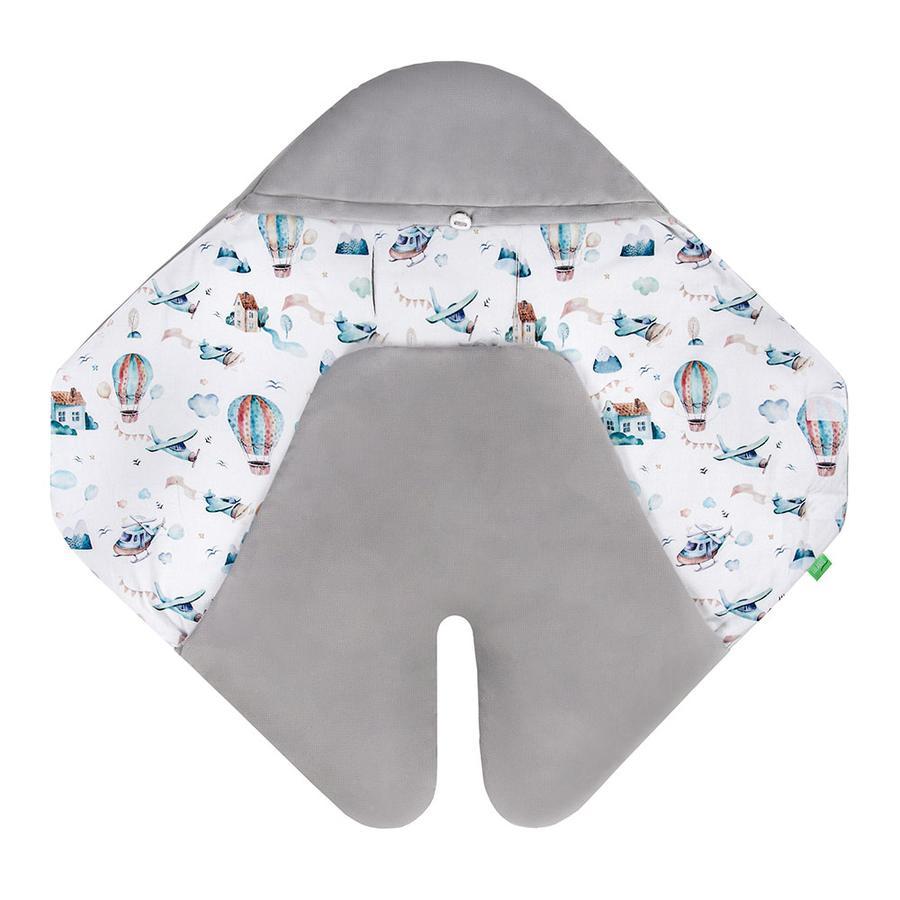 LULANDO Couverture bébé enveloppante Art Collection Buli Velvet Plane