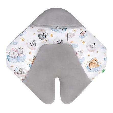 LULANDO Couverture bébé enveloppante Art Collection Buli Velvet Sleepy