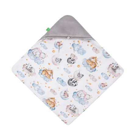 LULANDO Couverture bébé enveloppante Art Collection Yeti Velvet Sleepy