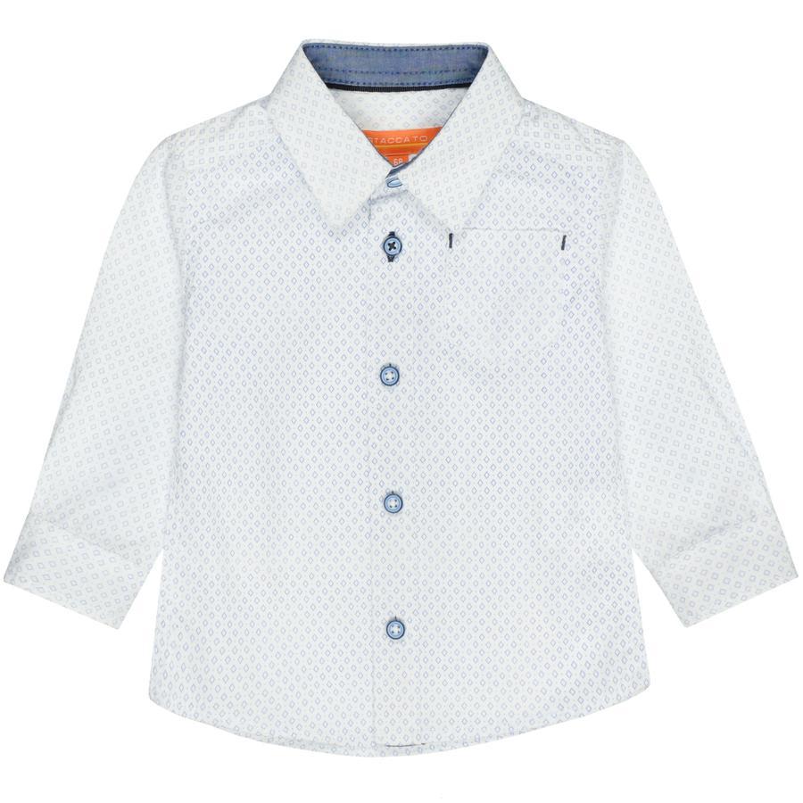 STACCATO Pojkeskjorta vitmönstrad