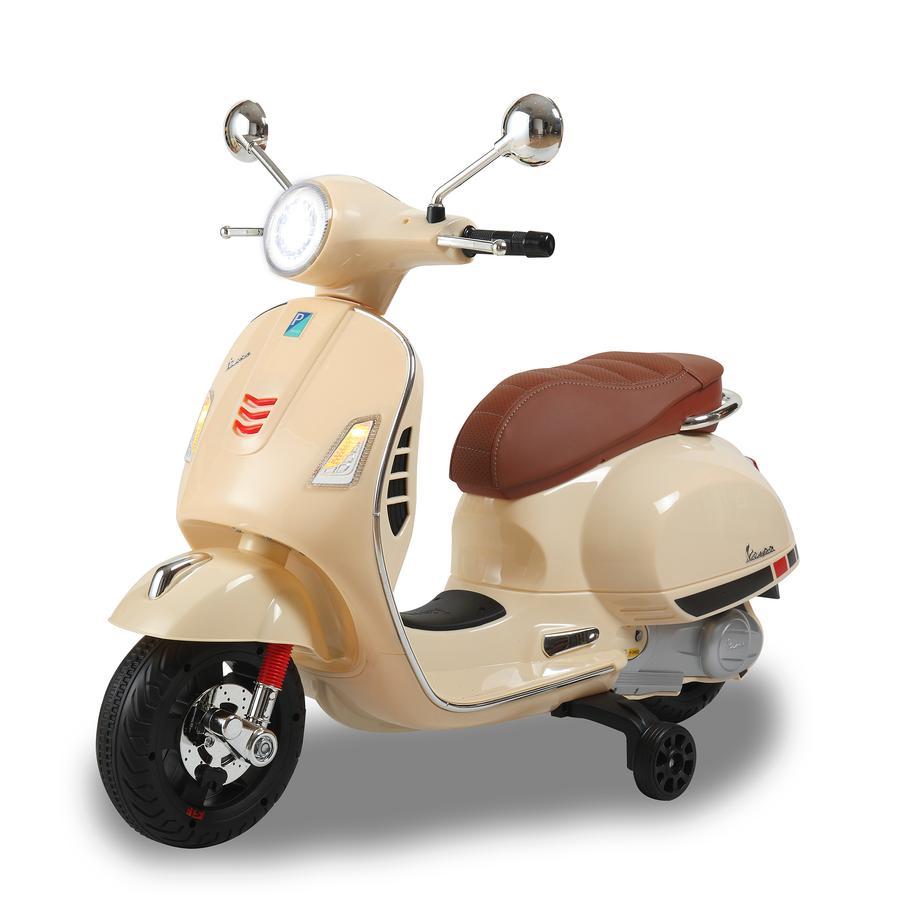 JAMARA Scooter électrique enfant Vespa GTS Ride-on beige 12 V