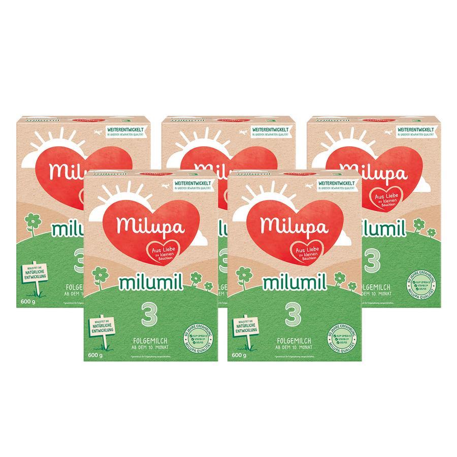 Milupa Folgemilch Milumil 3 5 x 600 g ab dem 10. Monat