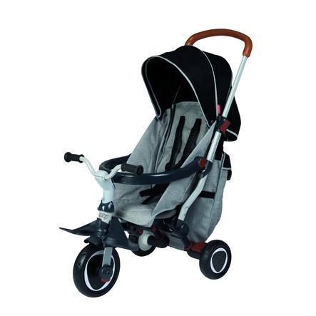 Smoby Tricycle enfant évolutif Robin Fold-Up, gris/noir