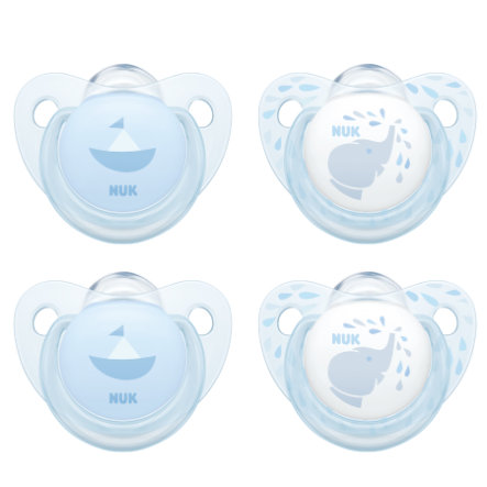 NUK Smoczek Baby Blue Trendline blue Rozm. 1 Silikon 4 szt.
