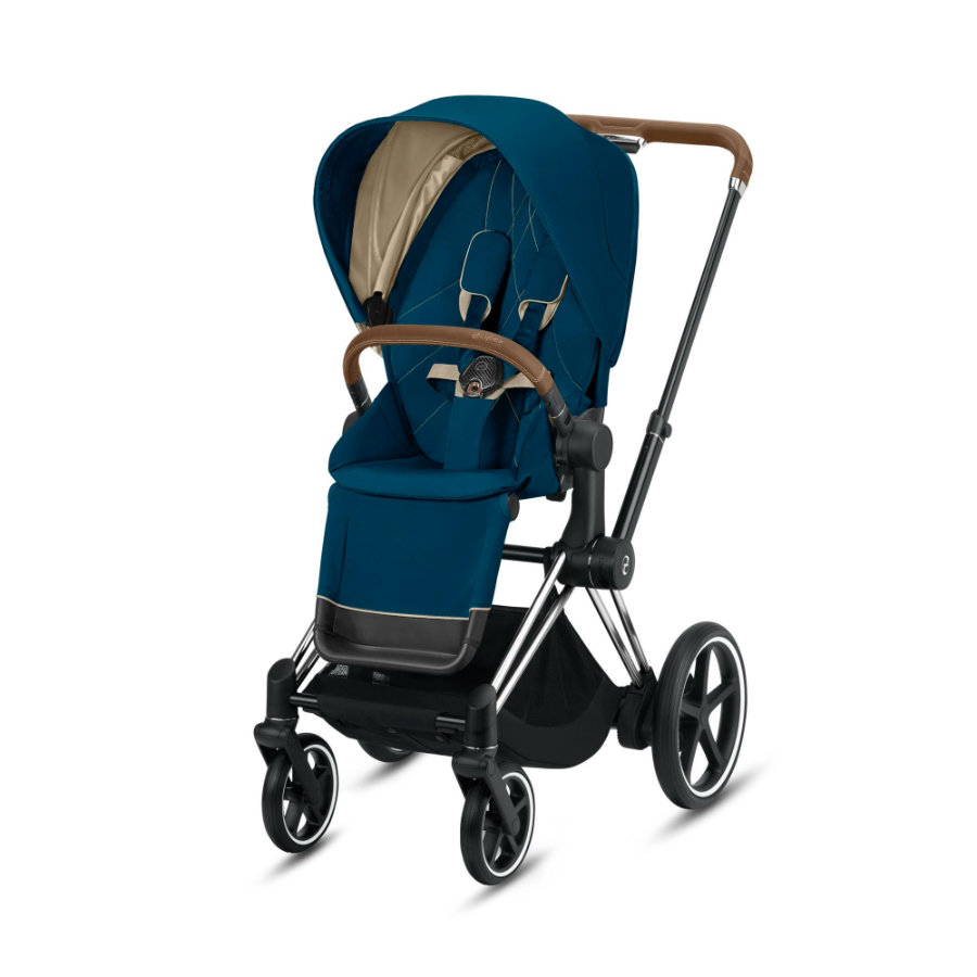 cybex PLATINUM Kinderwagen ePriam Chrome inklusive Seat Pack in Mountain Blue
