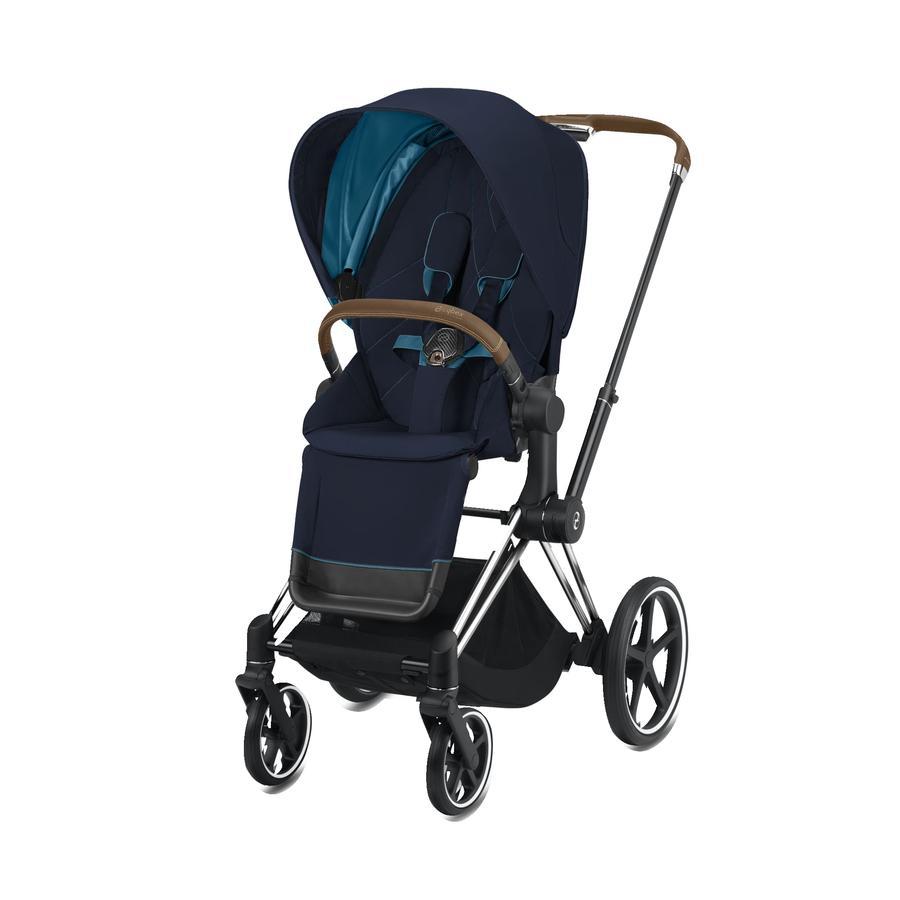 cybex PLATINUM Kinderwagen ePriam Chrome inklusive Seat Pack in Nautical Blue
