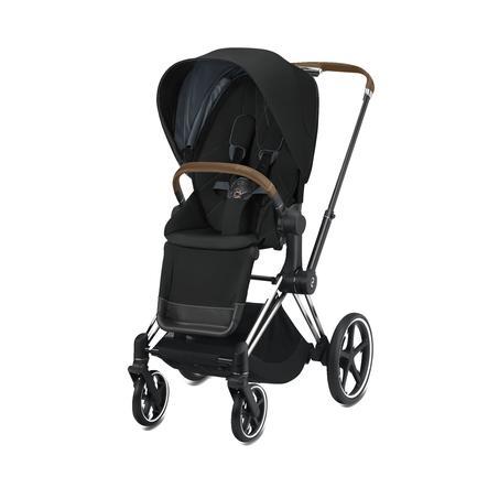 cybex PLATINUM Kinderwagen ePriam Chrome inklusive Seat Pack in Deep Black