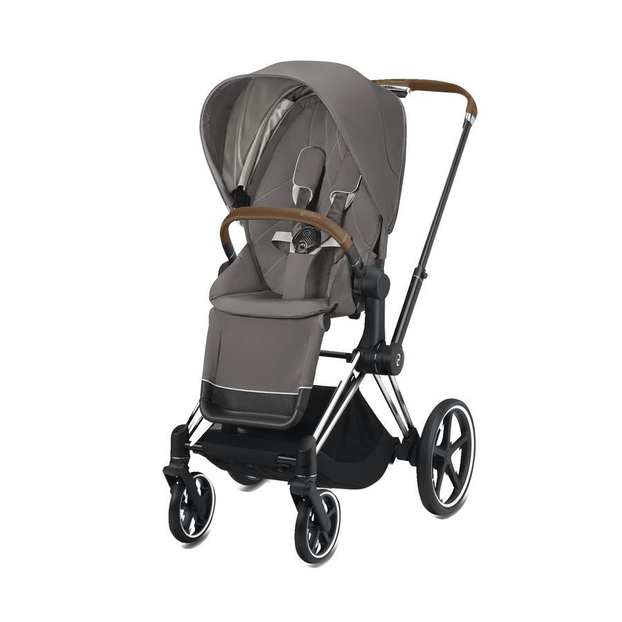 cybex PLATINUM Kinderwagen ePriam Chrome inklusive Seat Pack in Soho Grey