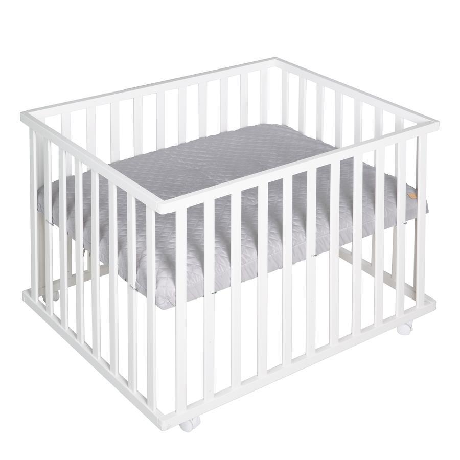 roba Parc bébé Style bois blanc gris 75x100 cm
