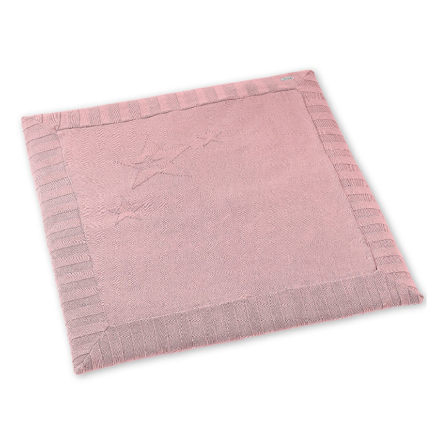 Sterntaler Strick-Krabbeldecke rosa 100x100cm