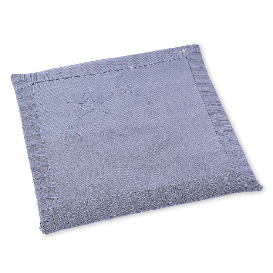 Sterntaler Strikket kravletæppe blå 100x100cm