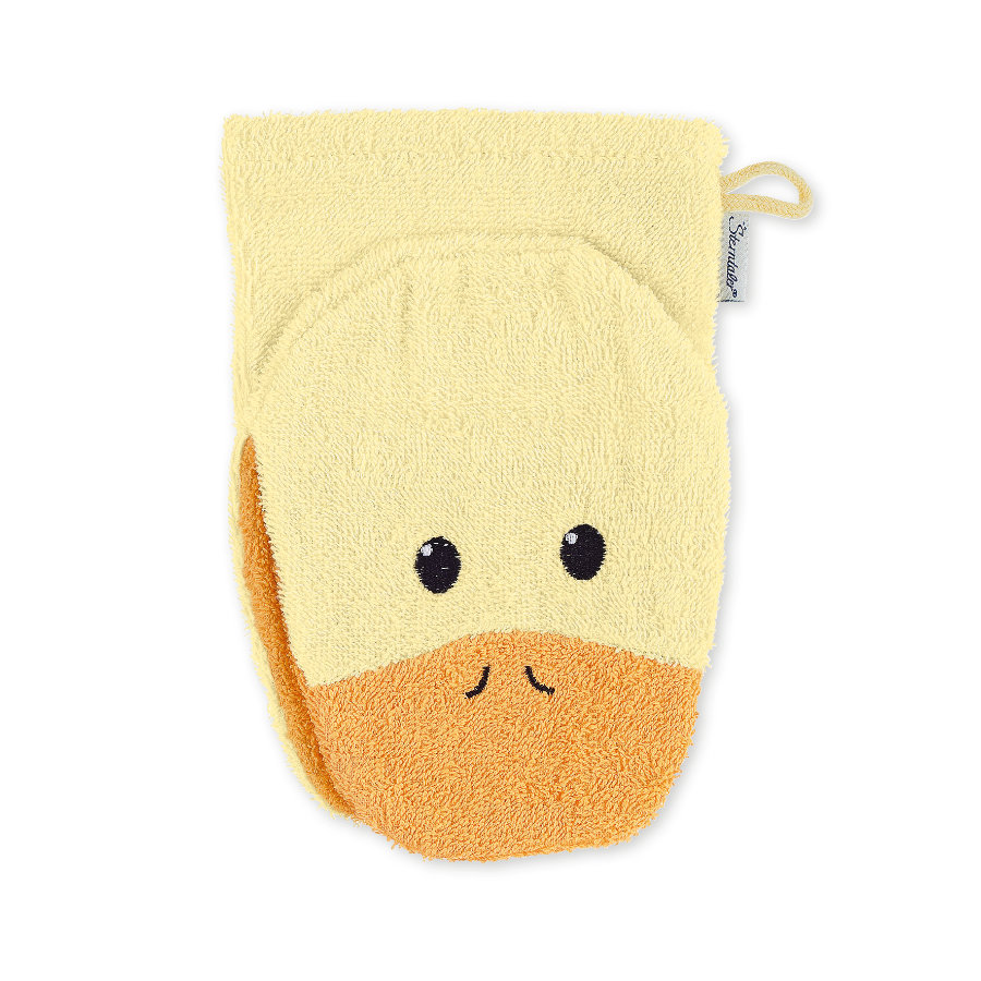 Sterntaler Gant de toilette enfant Edda canard jaune