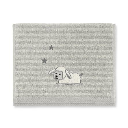 Dětský ručník Sterntaler Stanley šedý 50 cm x 30 cm