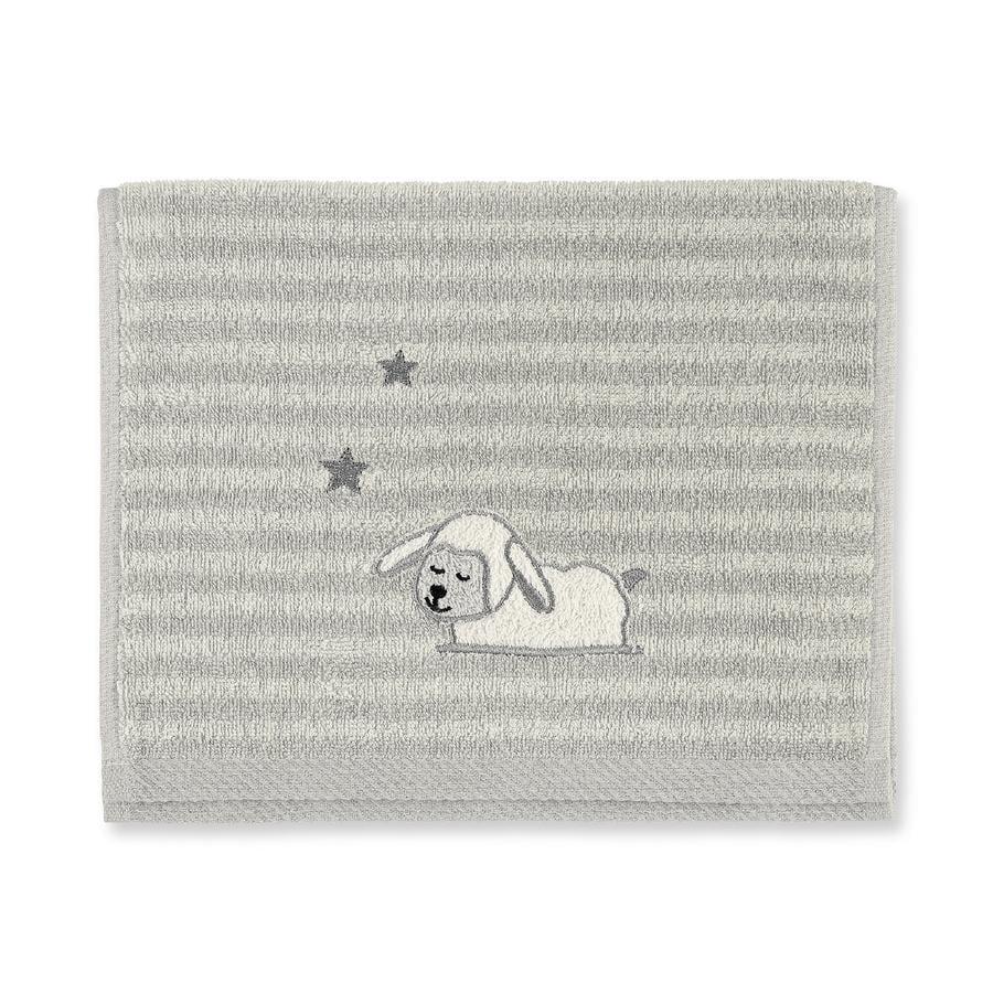 Sterntaler Serviette de bain enfant Stanley mouton gris 50x30 cm