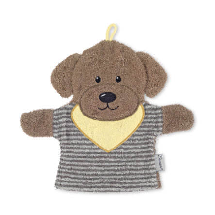 Sterntaler Gant de toilette enfant Hanno chien gris
