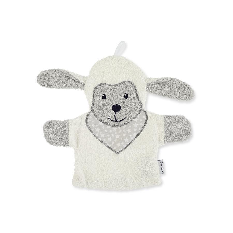 Sterntaler Gant de toilette enfant Stanley mouton gris