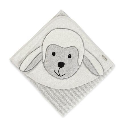 Sterntaler Cape de bain enfant Stanley mouton gris 80x80 cm