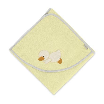 Sterntaler Hættehåndklæde Edda gul 100 x 100 cm