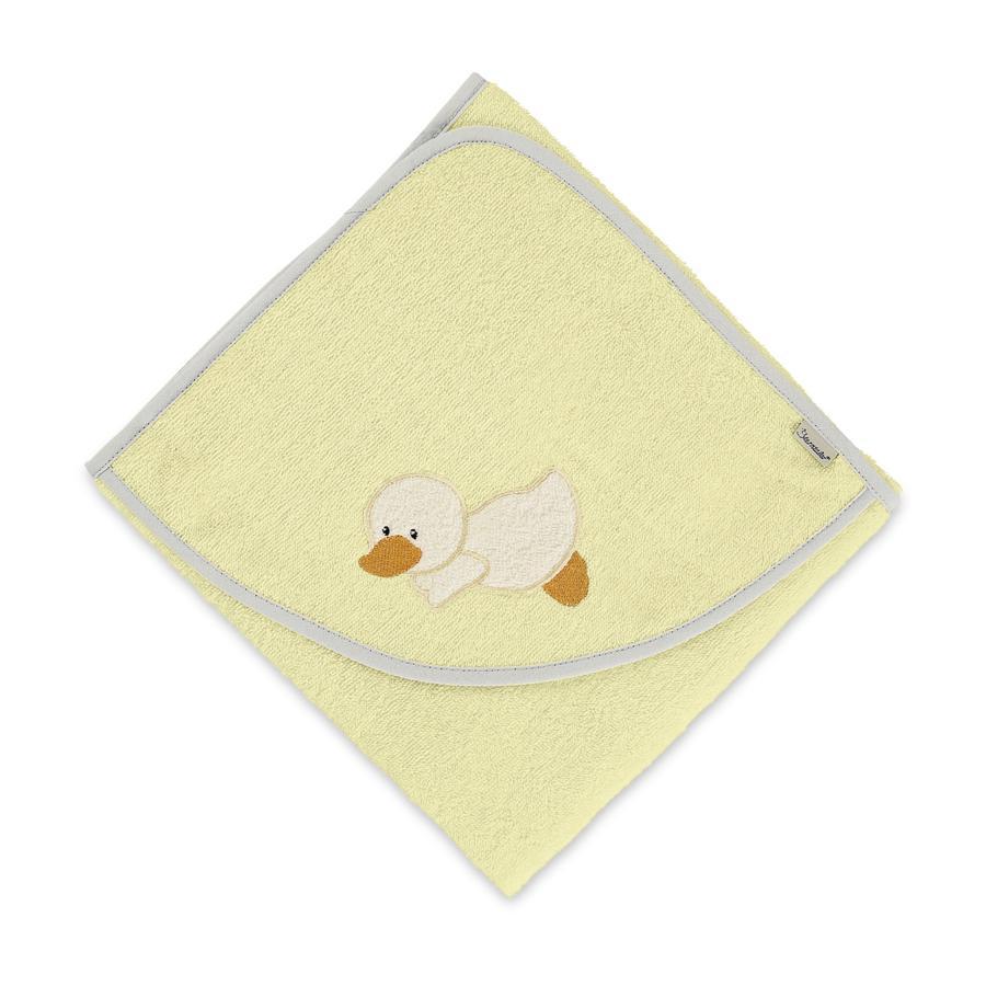 Sterntaler Toalla de baño con capucha Edda amarilla 100 x 100 cm