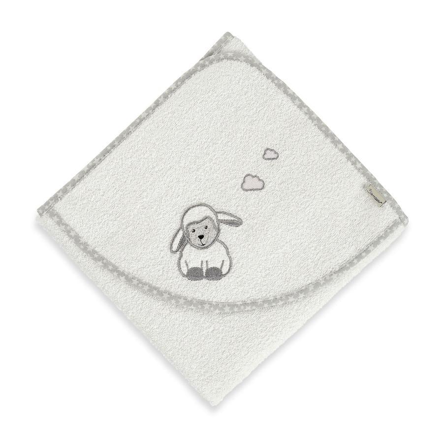 Sterntaler Cape de bain enfant Stanley mouton écru 80x80 cm