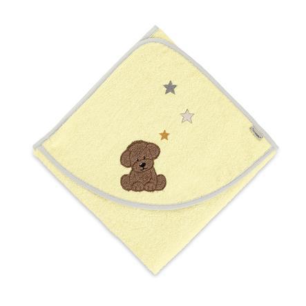 Sterntaler Hættehåndklæde Hanno gul 80 cm x 80 cm