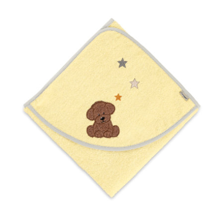 Sterntaler Hupullinen kylpypyyhe Hanno keltainen 80 cm x 80 cm