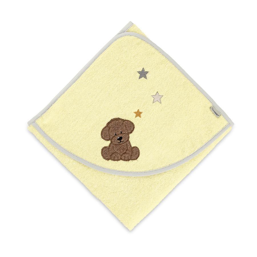 Sterntaler Handdoek met capuchon Hanno geel 80 x 80cm