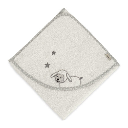 Sterntaler Kapuzenbadetuch Stanley ecru 100 x 100 cm
