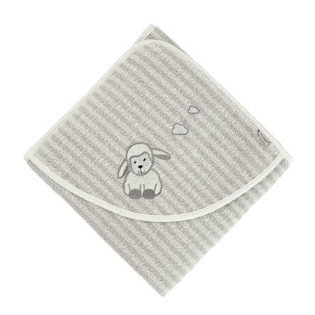 Sterntaler Cape de bain enfant Stanley mouton gris 100x100 cm