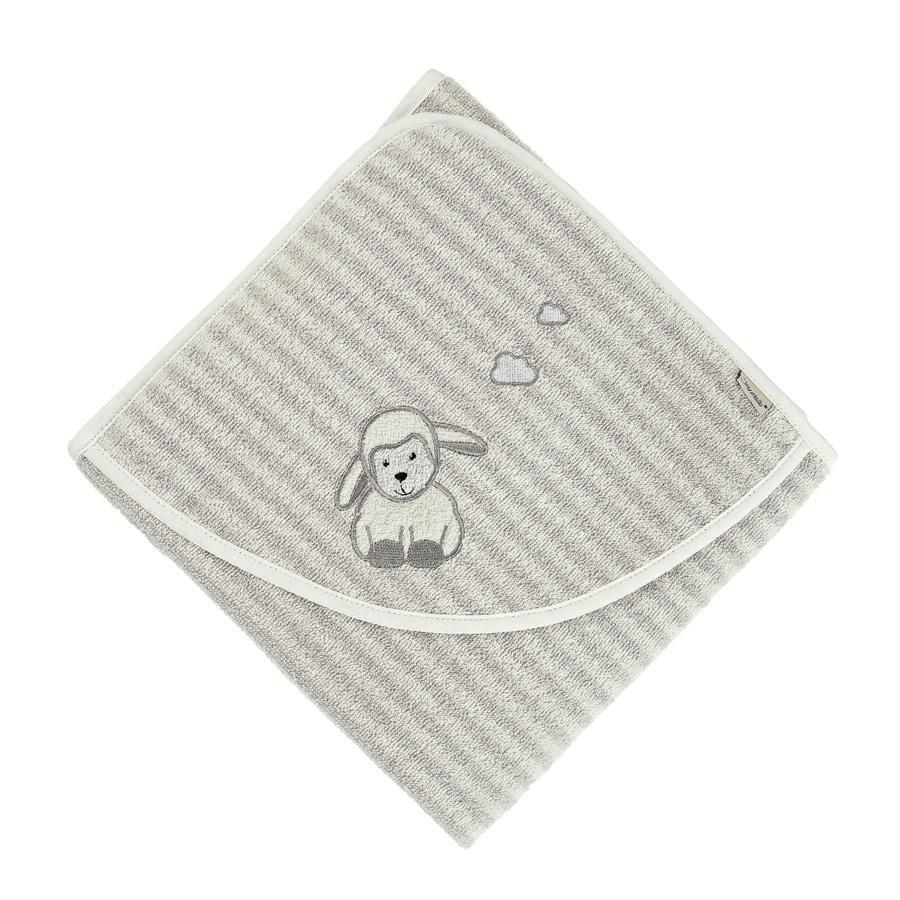 Sterntaler Asciugamano da bagno con cappuccio Stanley grigio 100 x 100 cm