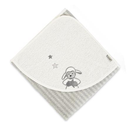Sterntaler Handdoek met capuchon Stanley  grijs 80 x 80cm