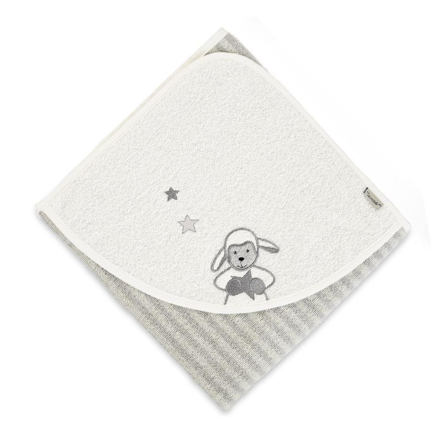 Sterntaler Hættehåndklæde Stanley grå 80 x 80 cm