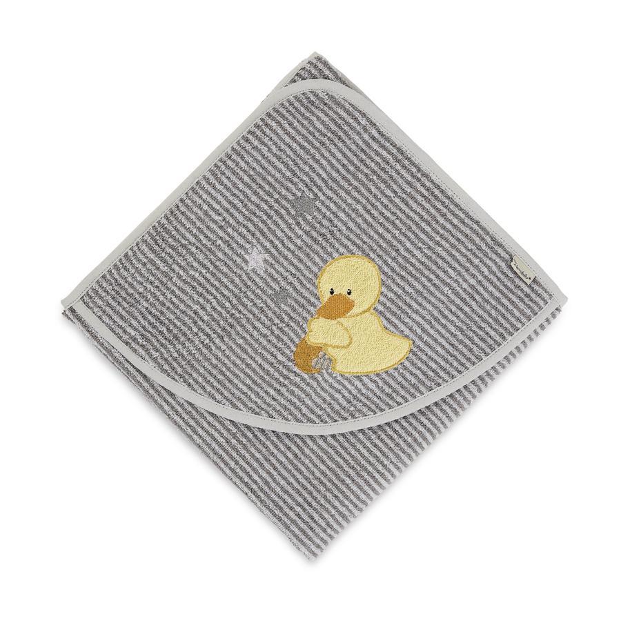 Sterntaler Cape de bain enfant Edda canard gris 80x80 cm