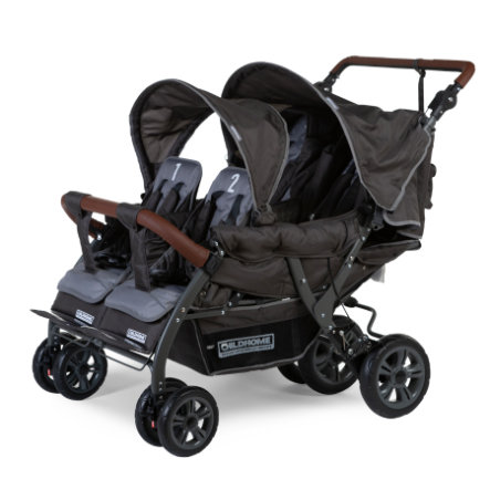 CHILDHOME Vierlingskinderwagen Quadruple Anthrazit