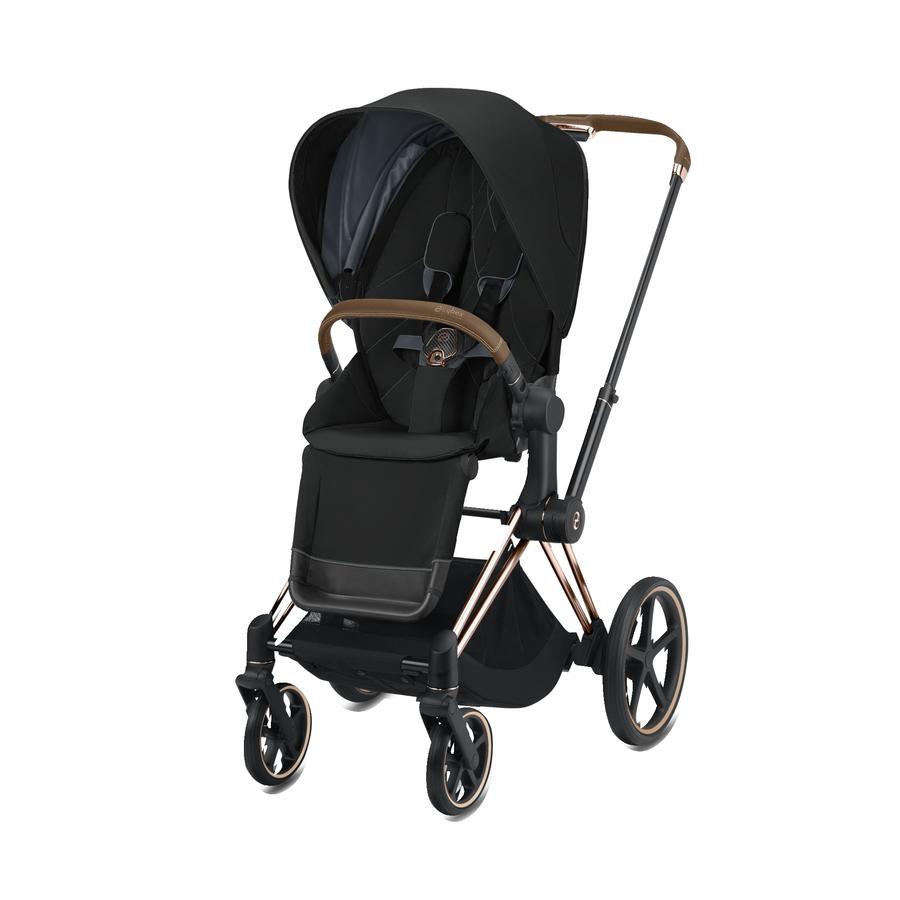 cybex PLATINUM Kinderwagen ePriam Rosegold inklusive Seat Pack in Deep Black