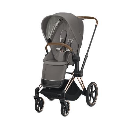 cybex PLATINUM Kinderwagen ePriam Rosegold inklusive Seat Pack in Soho Grey
