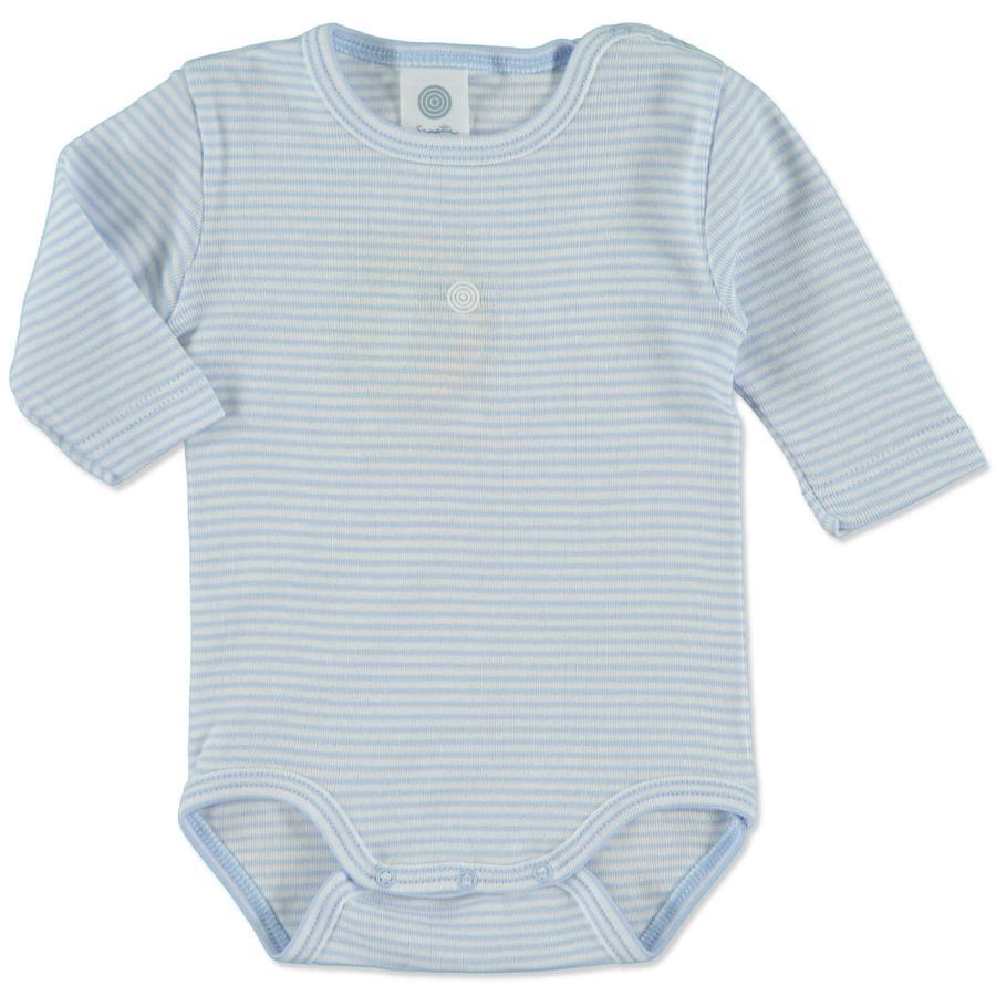 SANETTA Drenge baby body, lyseblå ringe