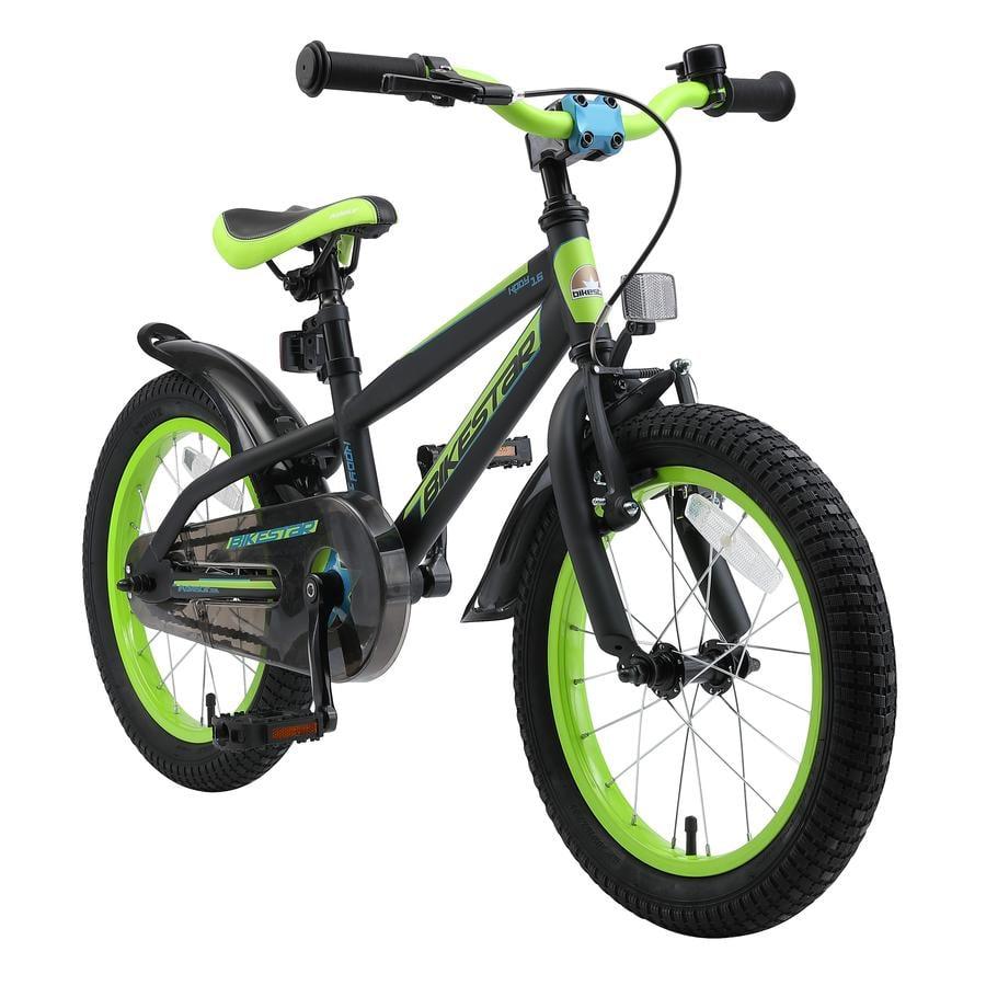 """bikestar børnecykel 16 """"bjerg sort gul"""