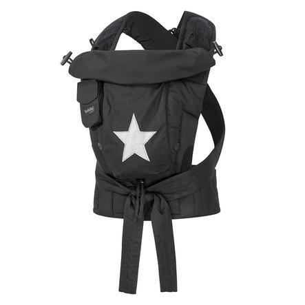 Hoppediz Nosítko Bondolino Plus Popeline černé s hvězdičkou