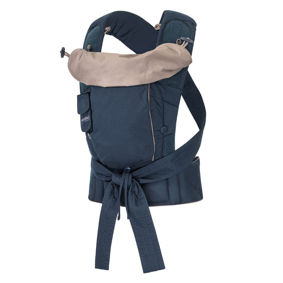 Hoppediz Porte-bébé Bondolino Plus Popeline bleu marine/gris
