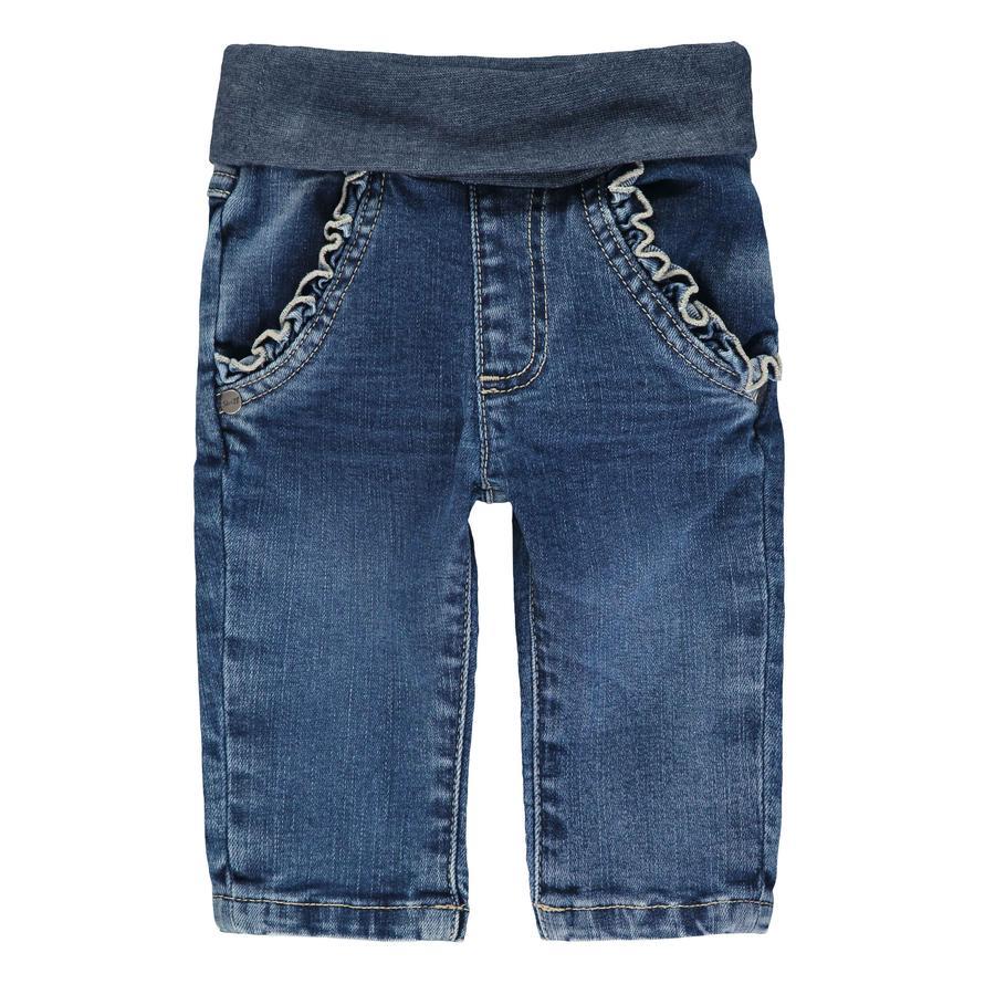 Steiff Girls Hose Jeans, blue denim