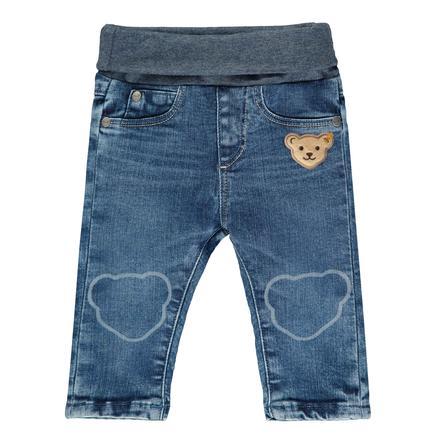 Steiff Boys Hose Jeans, blue indigo