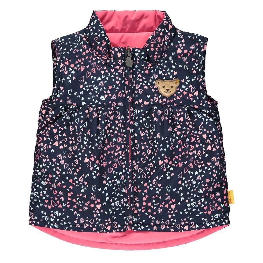Steiff Girls Vest, svart iris
